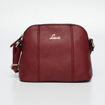 112cdbd2d73 LAVIE Solid Stitch Detail Sling Bag