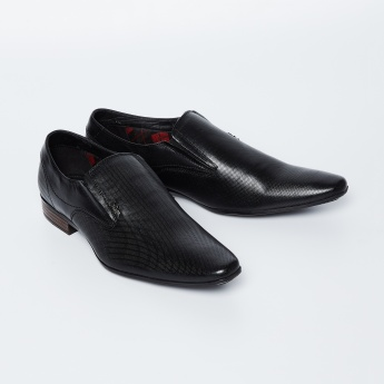 4e9e7b50a4 LEE COOPER Textured Slip-On Formal Shoes | Black