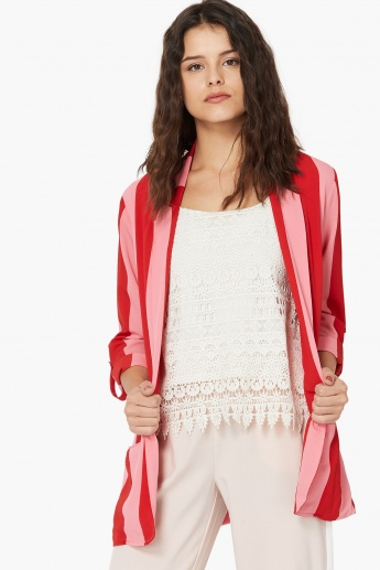ONLY Candy Stripe Front-Open Blazer