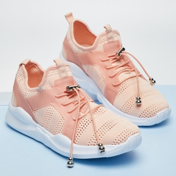 GINGER Textured Lace-Up Running Shoes