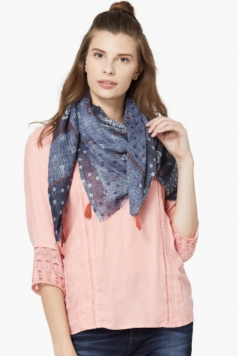 GINGER Printed Knitted Stole