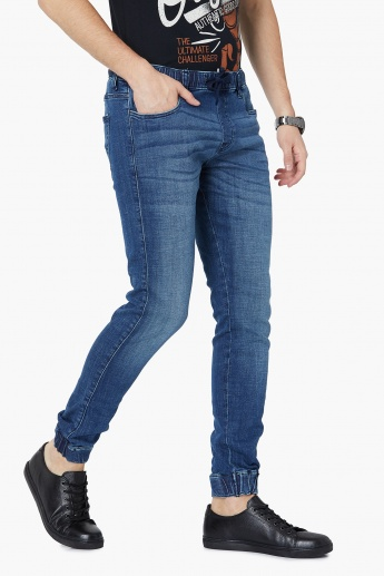AEROPOSTALE Mid-Washed Denim Joggers