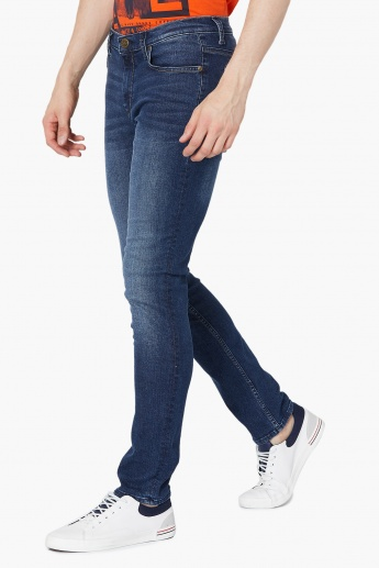 e29df224 LEE Bruce Mid Low Skinny Tapered Jeans | Blue