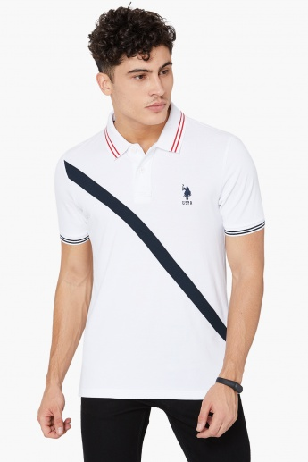 U S Polo Assn Contrast Tipping Polo T Shirt White