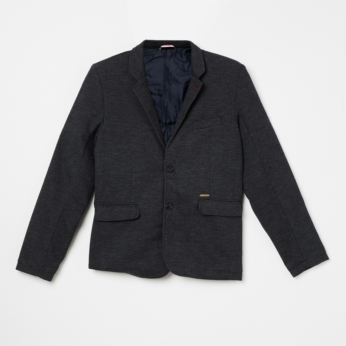 U.S. POLO ASSN KIDS Elbow Patches Single-Breasted Blazer