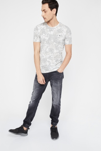 b9bc4584e KILLER Slim Fit All-Over Print Long-Sleeve T-shirt | Grey