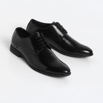 CODE Glossy Finish Lace-Up Formal Shoes
