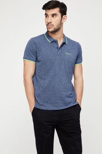59718f51d79 PEPE JEANS Regular Fit Patterned Polo T-shirt