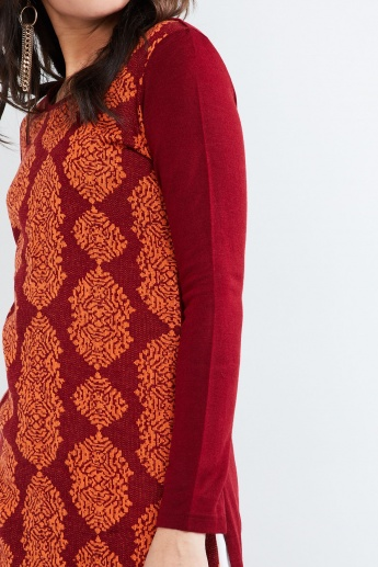 MAX Printed Long Sleeve Sweater Kurta