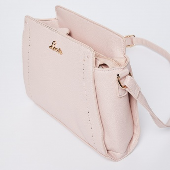 2e98f98c0cd LAVIE Solid Top-Stitch Detail Sling Bag