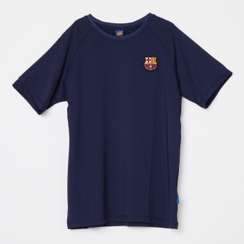 37936e732e8 FC BARCELONA FCB Applique Crew Neck T-shirt