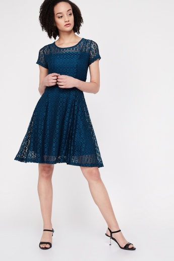 d493cc7a0cde CODE Lace Skater Dress