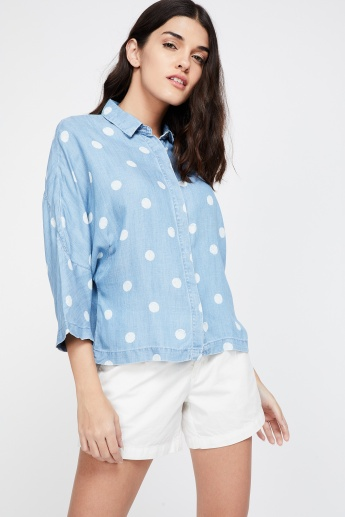 LEVI'S Dot Print Drop-Shoulder Shirt