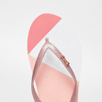 GINGER Colourblocked Bow Detail Slippers