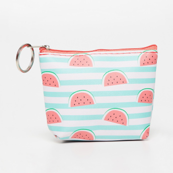 GINGER Lemon Print Striped Pouch thumbnail
