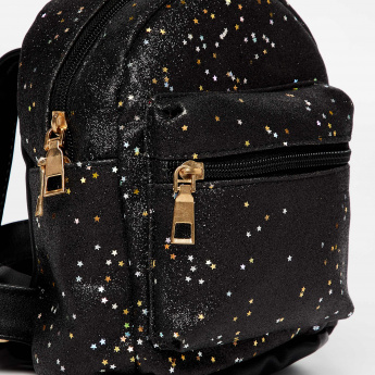 GINGER Starry Sheen Detail Mini Backpack