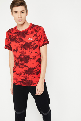 0eb735036df KAPPA Camouflage Print Regular Fit Crew-Neck T-shirt | Red