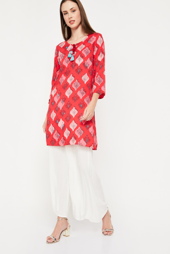 GLOBAL DESI Printed Straight Kurta