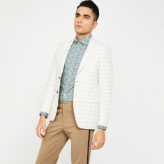 LOUIS PHILIPPE Checked Slim Fit Casual Blazer