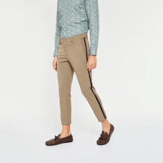 ALLEN SOLLY Solid Slim Fit Casual Trousers