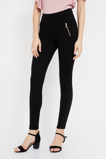 de64400fbe52e VERO MODA High-Rise Ankle-Length Jeggings | Black