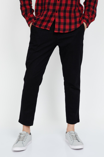 JACK & JONES Solid Slim Fit Chinos