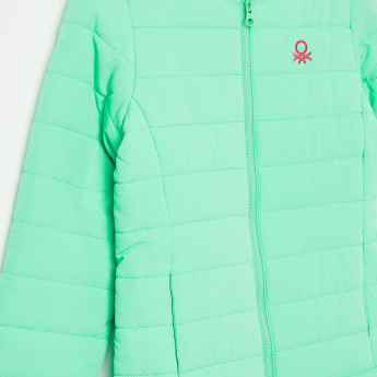 UNITED COLORS OF BENETTON Solid Quilted Zip-Up Jacket