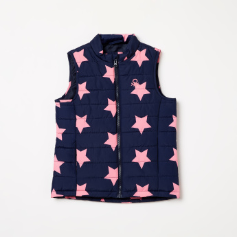 UNITED COLORS OF BENETTON Star Print Gilet Jacket
