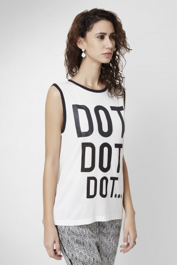 VERO MODA Chest Printed Top