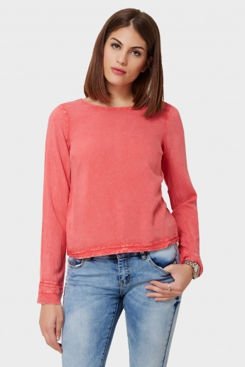 VERO MODA Key-Hole Detail Full Sleeves Top