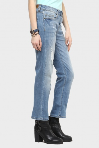 VERO MODA Straight Cut Ripped Jeans
