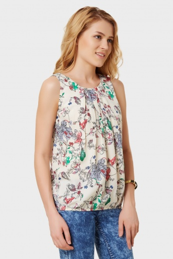VERO MODA Vintage Creepers Printed Sleeveless Top