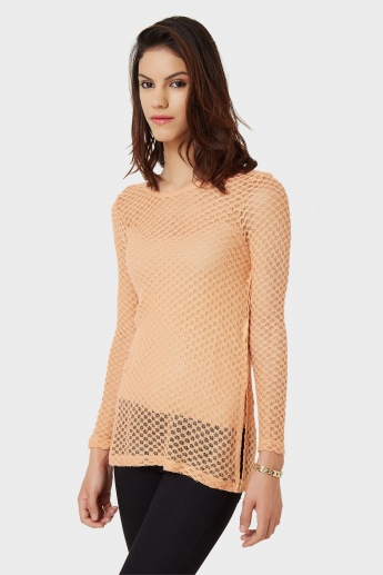 VERO MODA Mesh Up Top