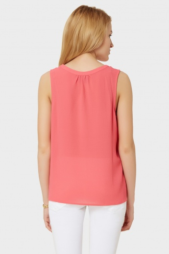 VERO MODA Solid Sleeveless Blouse