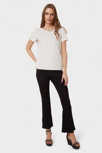 VERO MODA Laser-cut Top