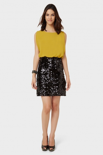 35b2f72fcc35 VERO MODA Sleeveless Sequin Dress