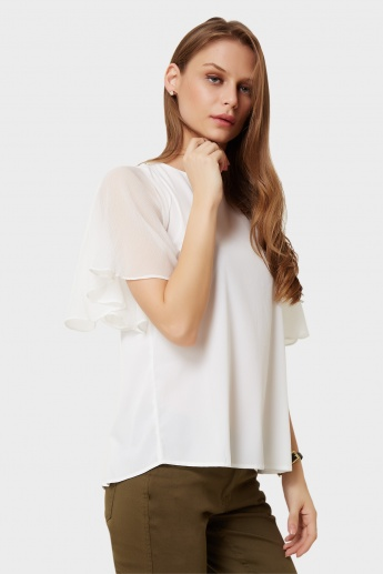 VERO MODA Bell Sleeves Solid Top