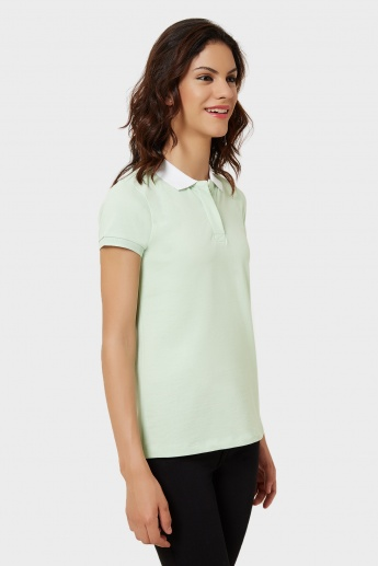 VERO MODA Polo Neck T-Shirt