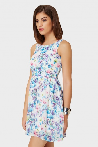 VERO MODA Tropical Print Sleeveless Dress