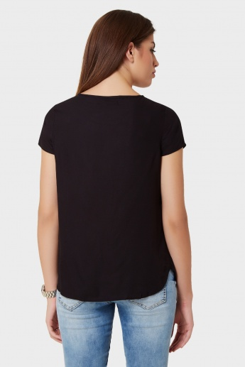 VERO MODA Be Happy Round Neck Top