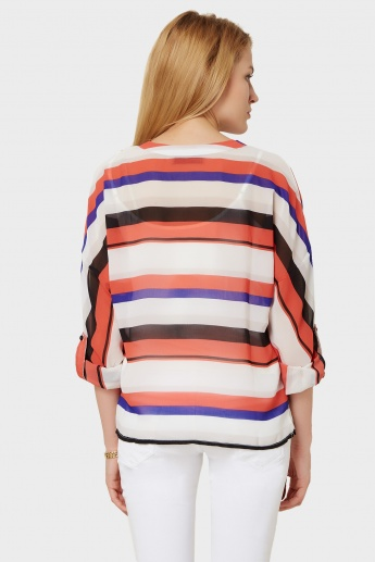 VERO MODA Striped Relaxed Fit Blouse
