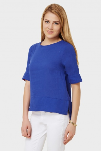 VERO MODA Solid Straight Cut Top