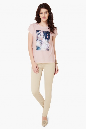 VERO MODA Graphic Print Round Neck T-Shirt