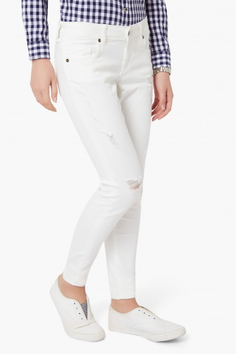 VERO MODA Ripped Slim Fit Jeans
