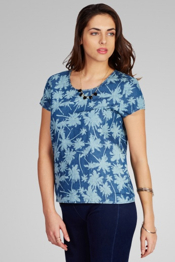 ONLY Printed Round Neck Top