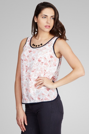ONLY Printed Round Neck Sleeveless Top