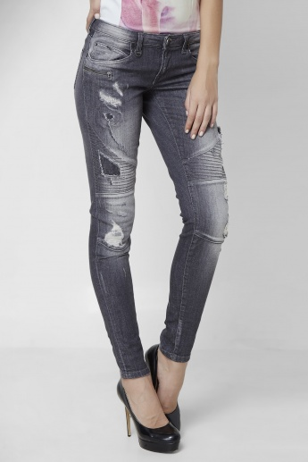 ONLY Tattered Skinny Fit Jeans