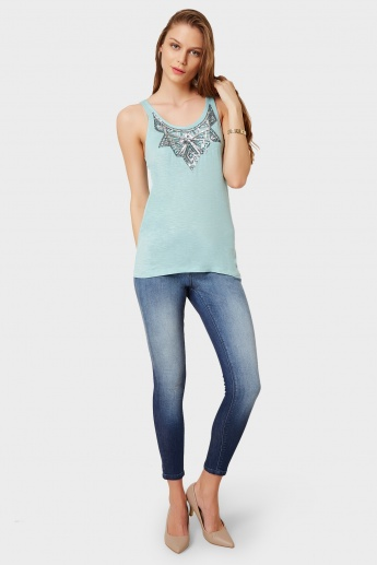 ONLY Sequined Neckline Tank Top