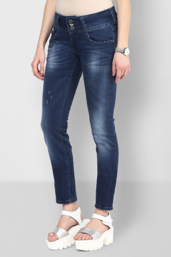 ONLY Whiskered Slim Fit Jeans