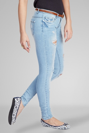 ONLY Distressed Skinny Fit Jeans